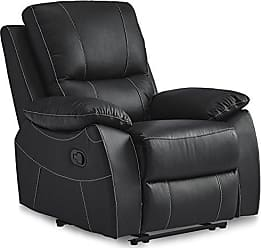 Homelegance Homelegance Greeley Reclining Chair Top Grain Leather Match, Black