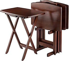 Winsome Winsome Oversize Snack Table Set, Walnut