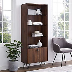 Walker Edison WE Furniture AZS68HUTDW Accent Cabinet 68 Dark Walnut