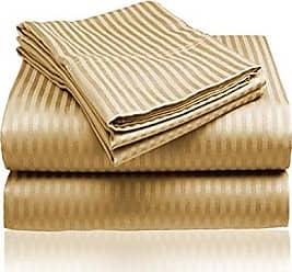 Ben&Jonah Designer Plush Queen 1800 Series Embossed Sheet Set - Gold