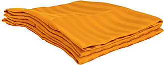 Home City Inc. Superior 1500 Series 100% Brushed Microfiber Standard Pillowcase Set Stripe, Orange - Super Soft and Wrinkle Resistant