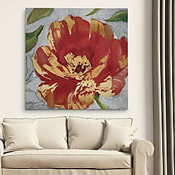 WEXFORD HOME Crimson Crush II Premium Gallery Wrapped Canvas Wall Art Print, 40x40, Multicolor