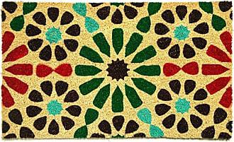 Dynamic Rugs Aspen Multicolor Floral Block Print Door Mat - AS232966999