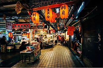 Noir Gallery Street Market in Taipei Wall Art - FL-06-TW-08