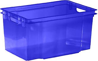 Allibert Caja Handy Plus de almacenaje Transparente con Tapa y Asas en Plata de 50/litros.