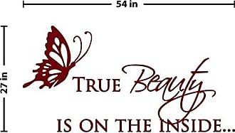 The Decal Guru True Beauty Wall Decal (Burgundy, 27 (H) X 54 (W))