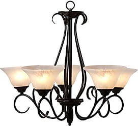 Yosemite Home Decor 673-5U-ORB 5 Light Chandelier in Oil Rubbed Bronze