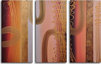 Omax Decor Tubes of Gold 3-Piece Canvas Wall Art - 36W x 24H in. - M 2079