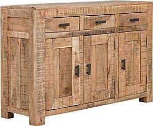 massivum sideboard kentucky massiv akazie lackiert kommode anrichte wohnzimmer mobel schranke