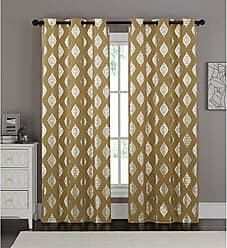 VCNY Home VCNY Home Sorento Window Treatment Curtains 76x95, Gold
