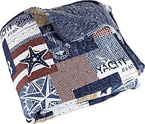 Trademark Global Bedford Home 2 piece Quilt Set Patriotic Americana - Twin