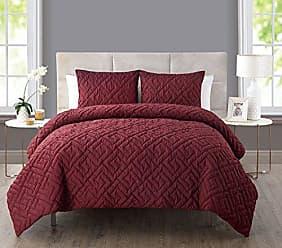 VCNY Home VCNY Home Artemis 2 Piece Comforter Set, Twin, Burgundy