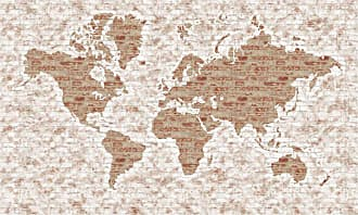 York Wallcoverings Rustic Living World Map Mural Wall Decal - LG1405M