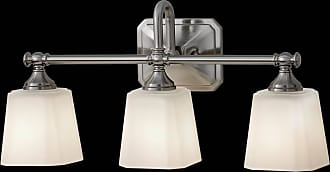 Feiss VS19703-BS Concord Vanity Fixtures in Brushed Steel finish with White Opal Etched Glass