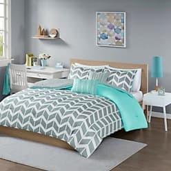 Jla Home Teal Darcy Comforter Set Chevron Twin/Twin XL 4pc JLA Home