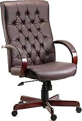 Pelegrin Cadeira Presidente em Couro Pu Pelegrin Marron Pel-7616c
