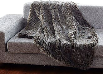 Ben&Jonah Ben & Jonah Into The Into The Wild Heavy Faux Fur Reversible Throw Blanket (50 x 60) -Peacock