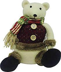Niazitex Urso de Natal com Cachecol 15cm Niazitex Bege
