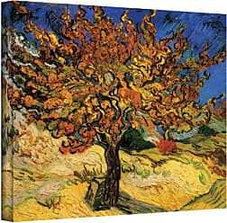 ArtWall Mulberry Tree by Vincent van Gogh Gallery Wrapped Canvas, 18 by 24-Inch