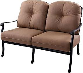 DARLEE Outdoor Darlee Sedona Patio Loveseat with Sesame Cushions - 201038-2/102-AB