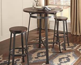 Ashley Furniture Challiman Dining Room Bar Height Table, Rustic Brown