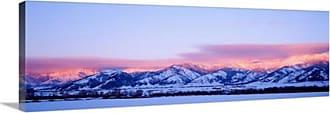 Great Big Canvas Montana Bozeman Bridger Mountains Sunset Canvas Wall Art Print - 87230_24_36X12_NONE