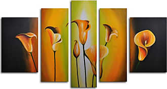 Omax Decor Lilies by Evening Light 5-Piece Canvas Wall Art - 68W x 40H in. - M 2124