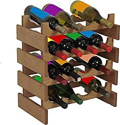 Wooden Mallet 16 Bottle Dakota Wine Rack, Light Oak