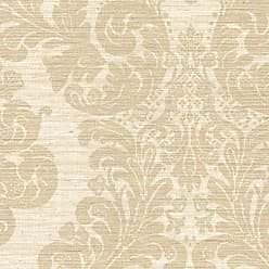 Brewster Home Fashions Anders Grasscloth Damask Wallpaper Brown - 2446-83543