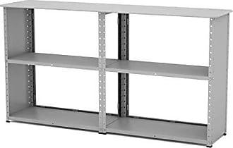 Pandin Móveis Estante Baixa de Aço E123 Clássico Pandin Móveis Cinza