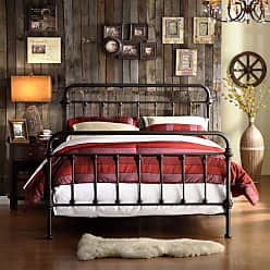Weston Home Nottingham Metal Spindle Bed, Size: Queen - E411BQ-1GA(3A)[BED]
