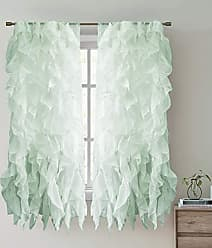 Sweet Home Collection 1 Pack Window Treatment Sheer Cascading Panel Vertical Ruffled Curtains in Many Sizes and Colors, 63 x 50, Mint