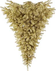 Vickerman 6 Unlit Champagne Upside Down Artificial Christmas Tree