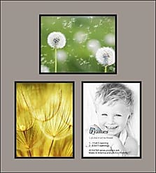 Art to Frames Double-Multimat-602-88/89-FRBW26079 Collage Photo Frame Double Mat with 3-8.5x11 Openings and Satin Black Frame