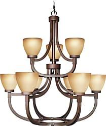 Woodbridge Lighting 12147-BRZ Wayman 9 Light 35-1/4 Wide 2 Tier