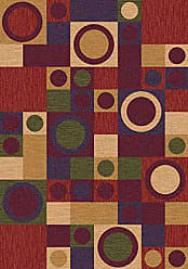 Milliken Carpet Milliken 4000032501 Pastiche Collection Rialto Area Rug, Dark Red, 77 x 77 Octagon