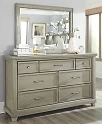 Ashley Furniture Chapstone Dresser and Mirror, Gray