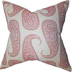 The Pillow Collection Amahl Paisley Bedding Sham Orange European/26 x 26
