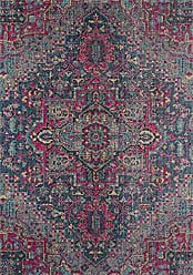 Momeni Rugs Momeni Rugs JEWELJW-03DNM7A9A Jewel Traditional Medallion Flat Weave Area Rug, 710 x 910, Denim Blue