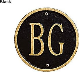 Whitehall Handcrafted Cast Aluminum Personalized Lawn Plaque, in Black/Gold