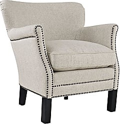 ModWay Modway Key Fabric Upholstered Accent Lounge Arm Chair in Sand With Nailhead Trim