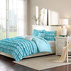 INTELLIGENT DESIGN ID10-022 Waterfall Comforter Set, Blue
