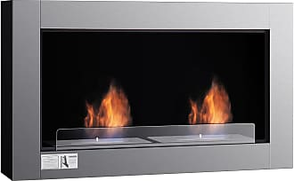 Costway 38 Wall Mounted Bio-Ethanol Ventless Dual Burner Fireplace