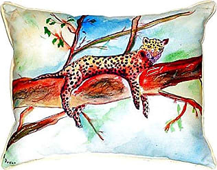 Betsy Drake SN283 Leopard Small Indoor/Outdoor Pillow, 11 x14