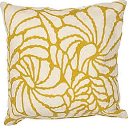 Jaipur Abstract Pattern Yellow/Ivory Cotton Polly Fill Pillow, 18-Inch x 18-Inch, Honey Encasa03