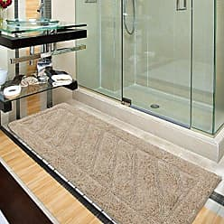 Ottomanson Ruby Collection 100% Pure Cotton Luxury Bath Rug, 20 X 59, Camel