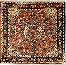 Nain Trading Hamadan Rug 34x36 Square Dark Grey/Rust (Iran/Persia, Wool, Hand-Knotted)