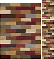 Tayse Universal Rugs 105180 Multi 3 Pc. Set 5-Feet by 7-Feet, 20-Inch by 60-Inch and 20-Inch by 32-Inch Area Rug, 3-Piece