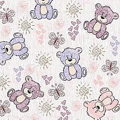 Lar Adesivos Papel de Parede Infantil Ursinhos Bebê Adesivo Ursos N4414