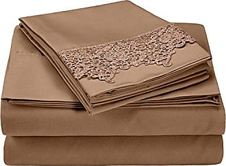 Superior 100% Brushed Microfiber Wrinkle Resistant Twin Sheet Set, 3-Piece, Taupe